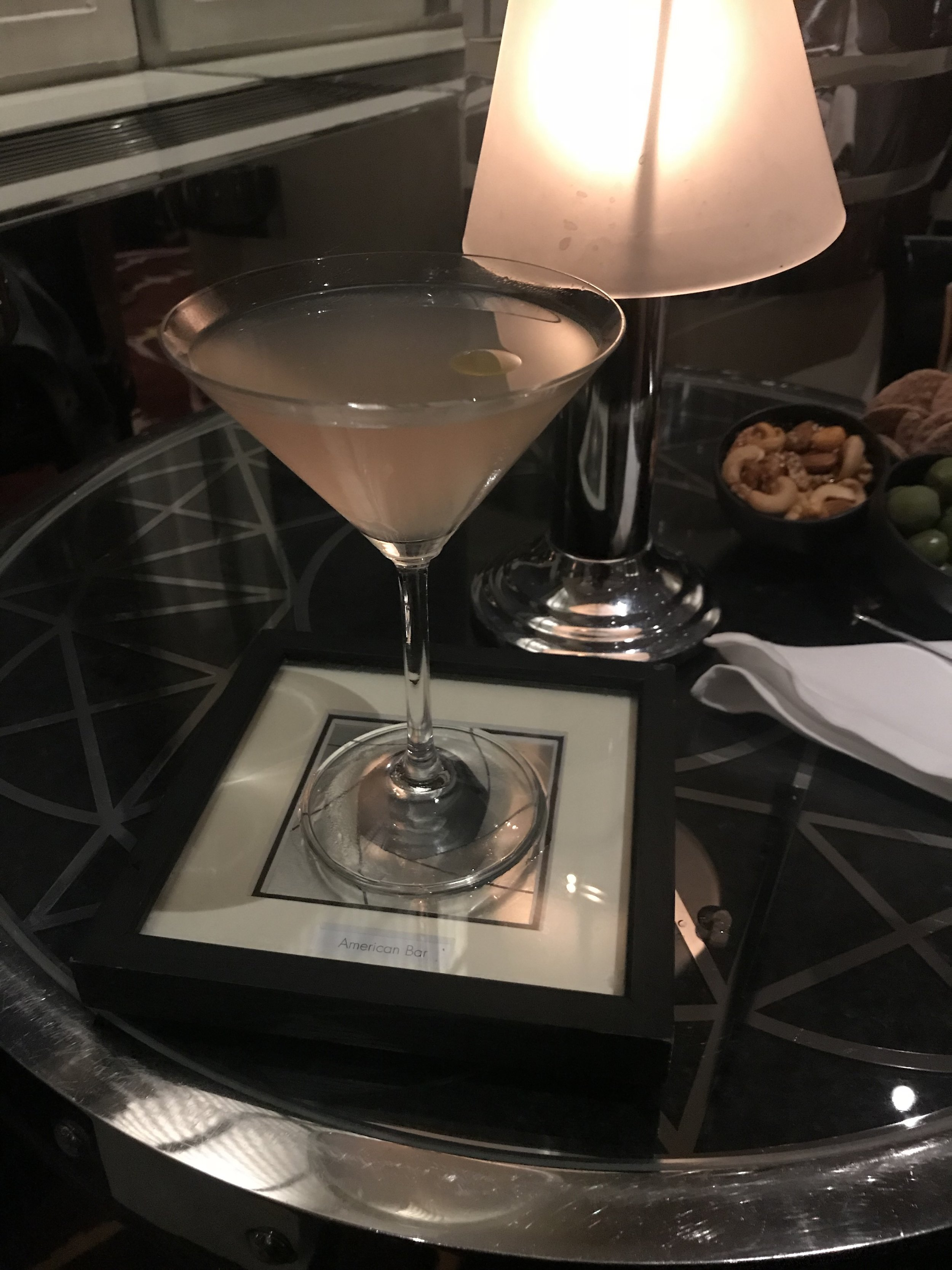 A cocktail at The Savoy after seeing The Lion King.