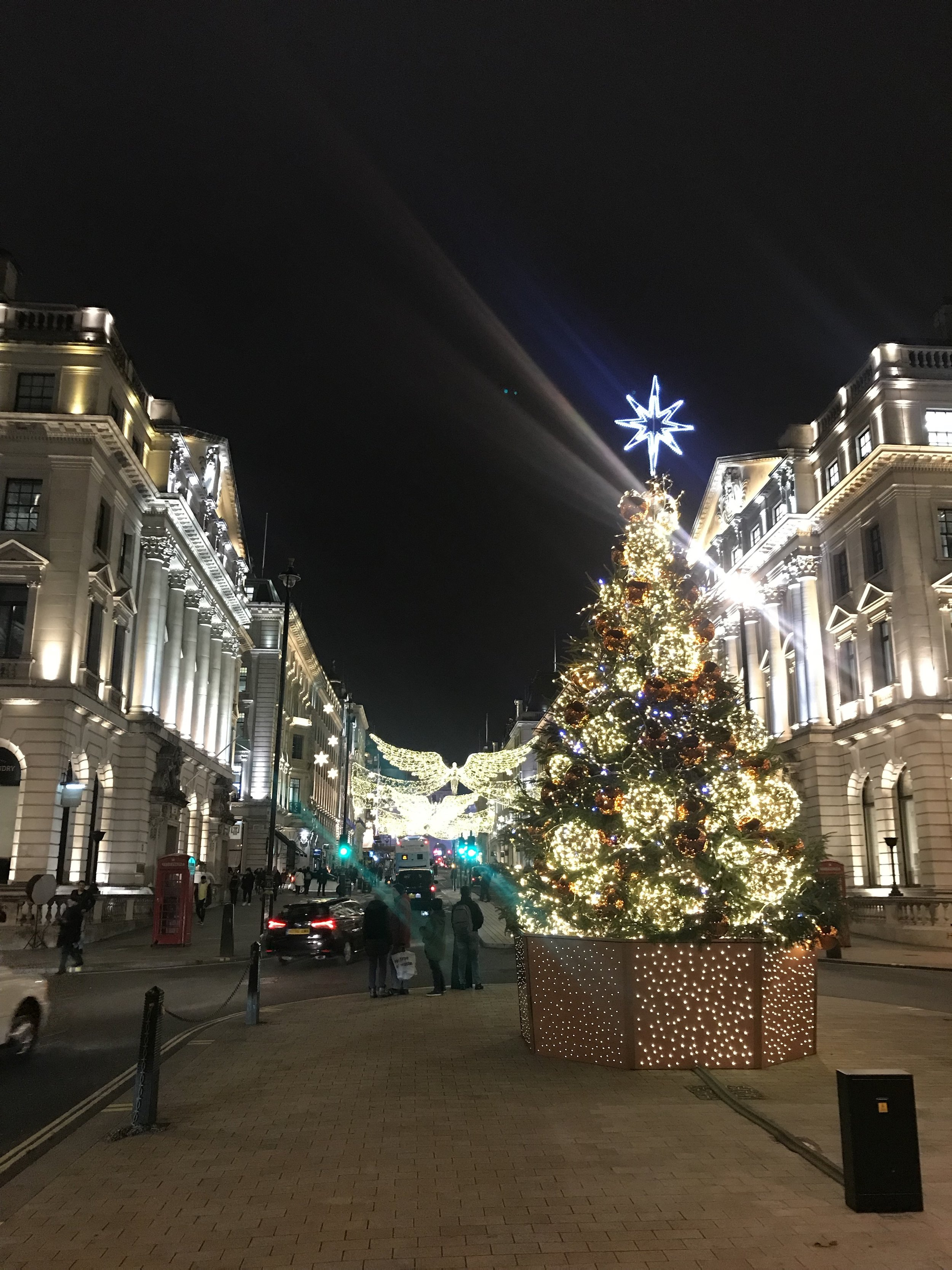 Pretty Christmas lights in London. :)