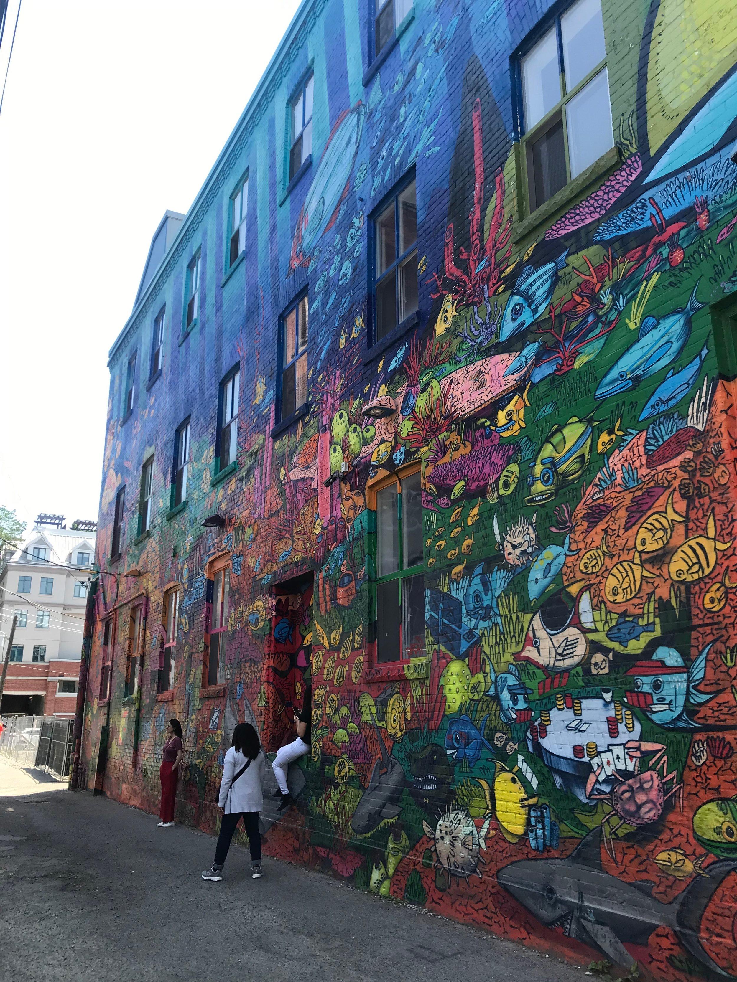 Part of Graffiti Alley.