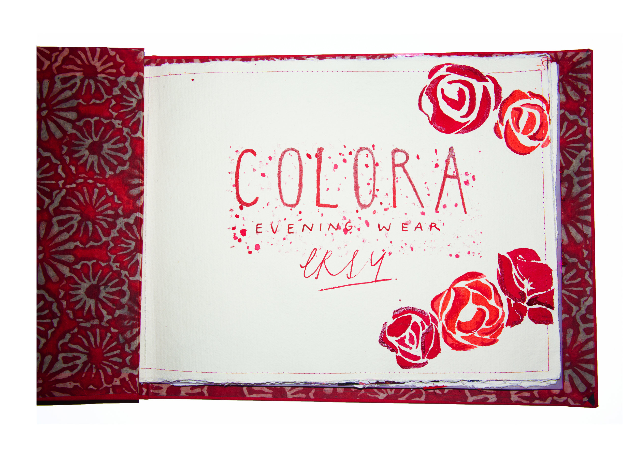 "select pages from her design book ""Colora""."