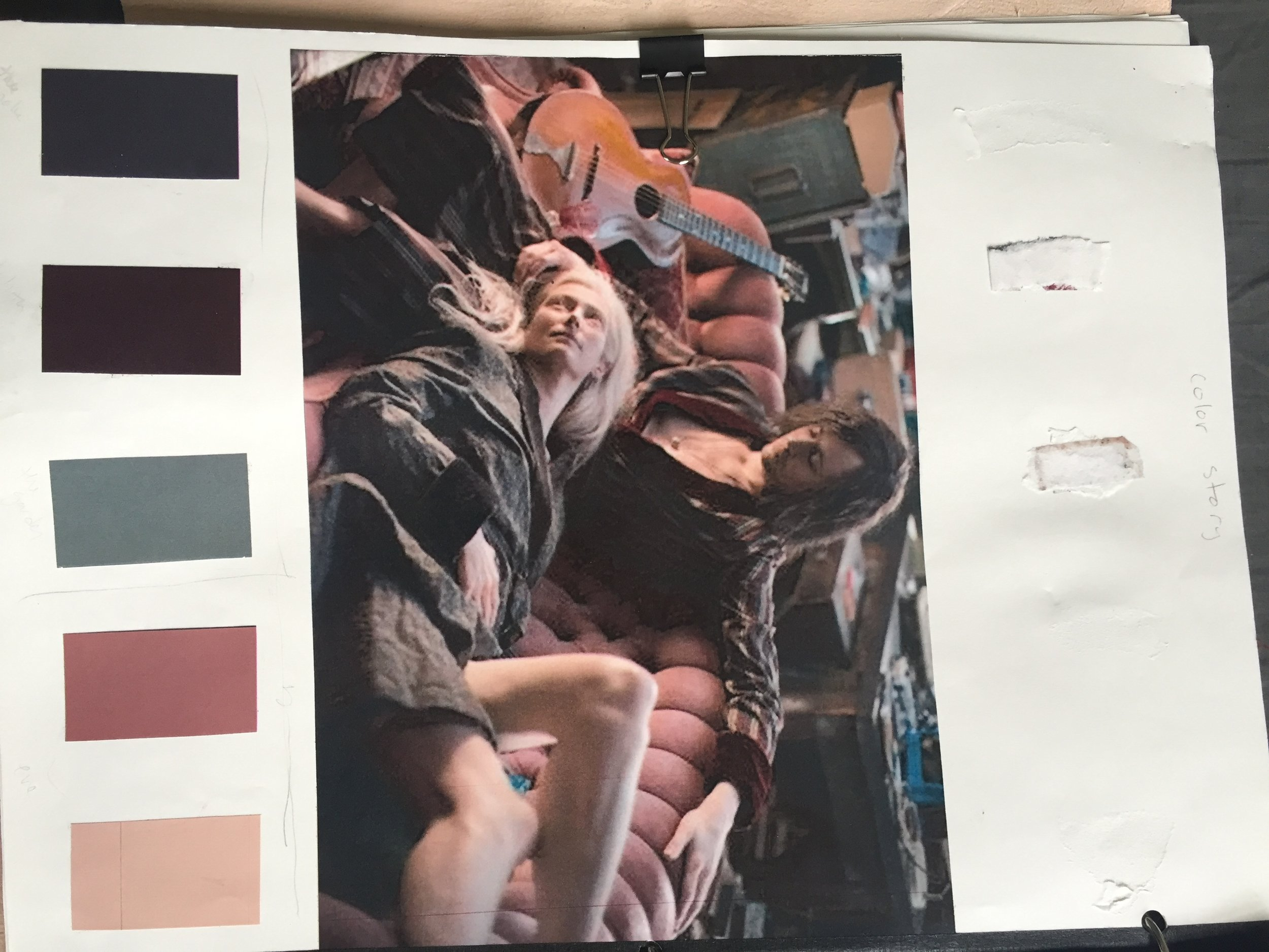 Color pallete and collage from Only Lovers Left Alive (2013)