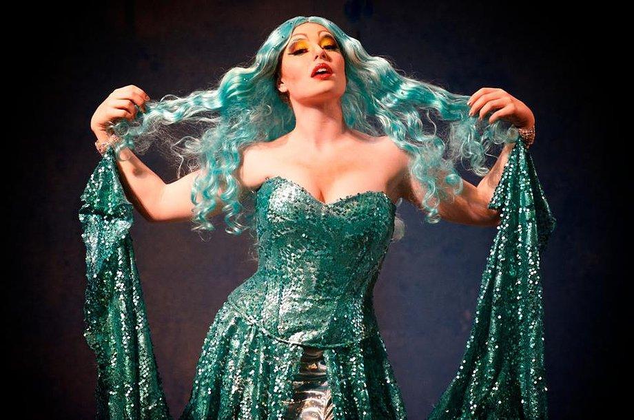 Sara Ramirez as 'Lady of the Lake' in Spamalot.