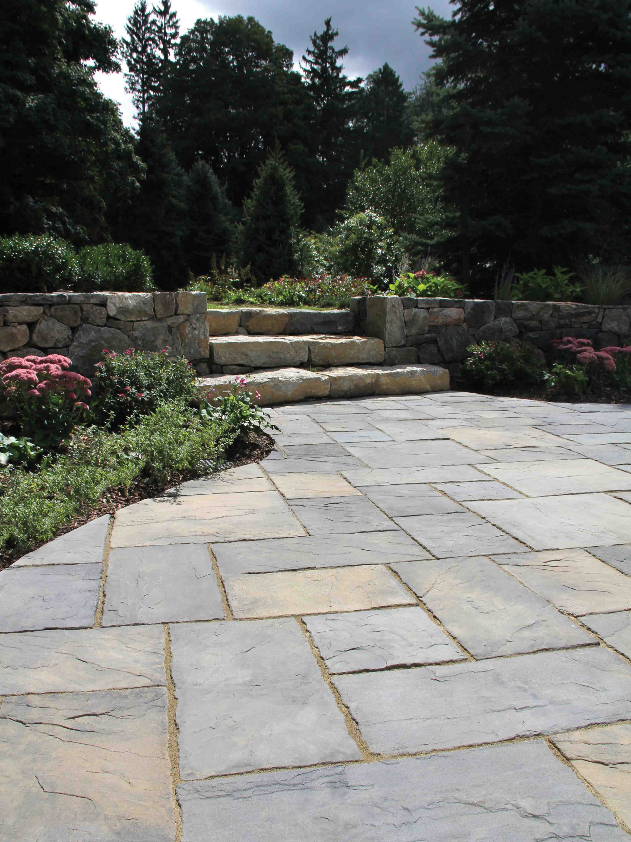 MATERIALS USED: NICOLOCK CONCRETE PAVERS; WEATHERDALE YORK BROWN