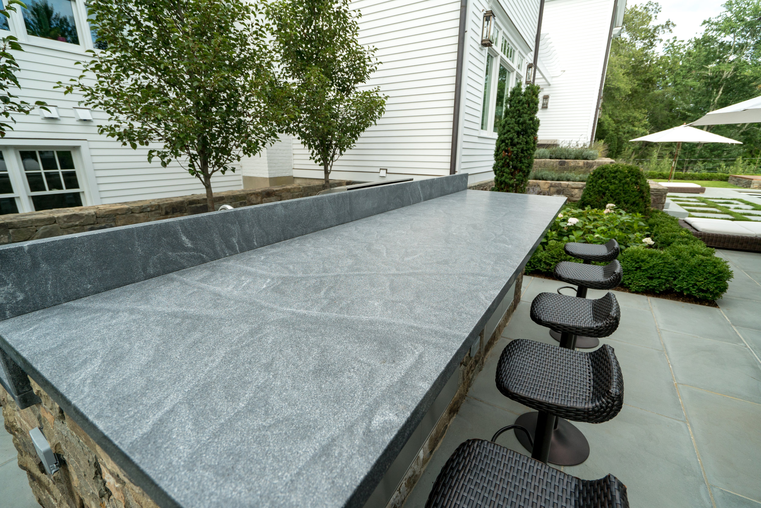 JET MIST GRANITE, HONED