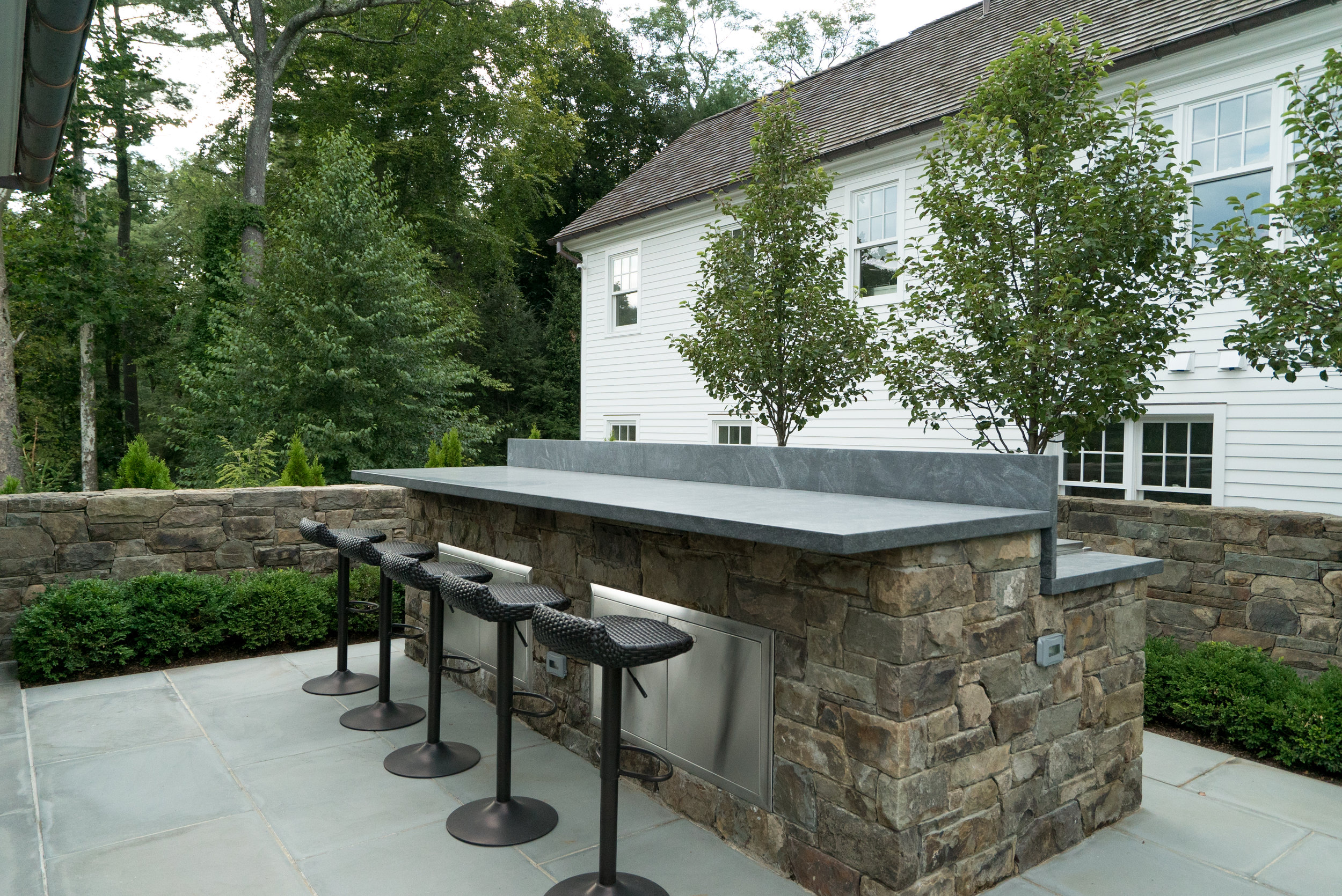 MATERIALS USED: JET MIST GRANITE COUNTER, BROOKLINE BBQ FACE