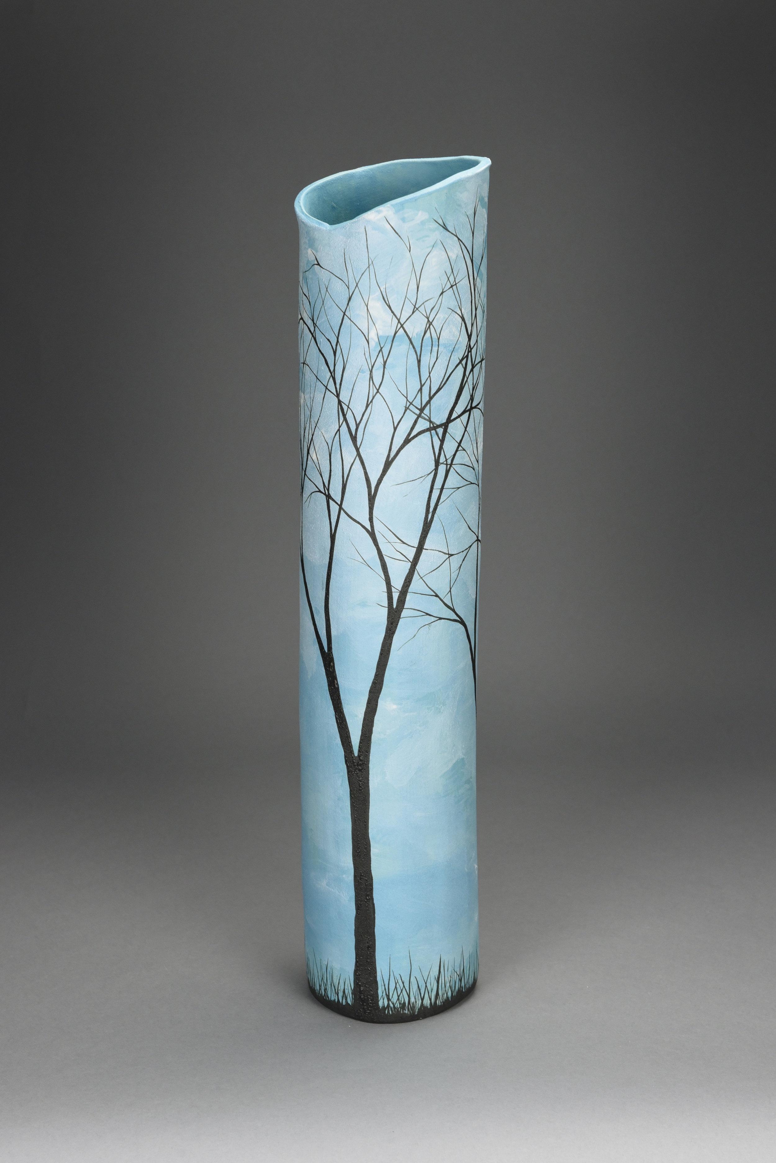 Winter Trees - Tall Vase