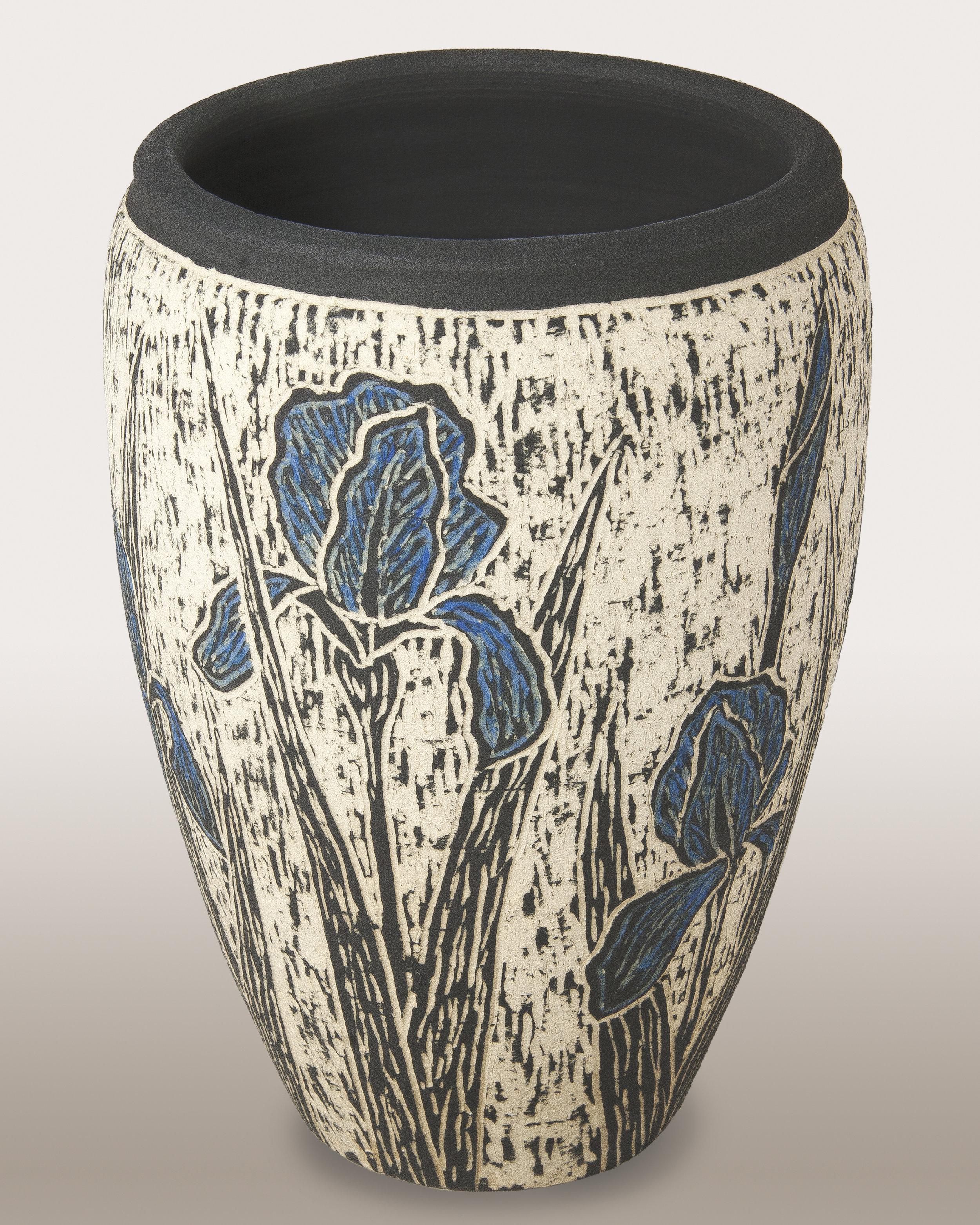Iris - Sgraffitio Carved