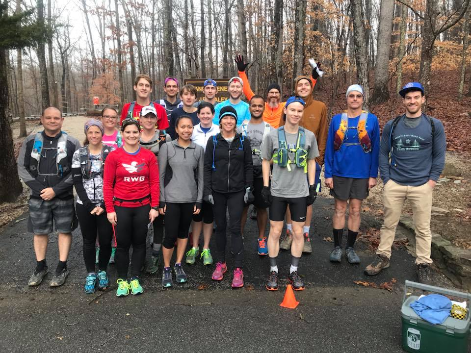John's Run Walk Shop Training Run in January 2018