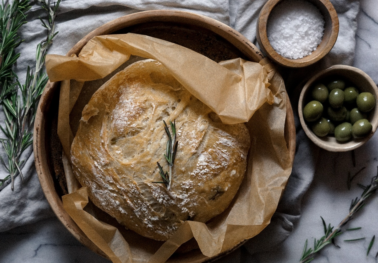 Herb-y, salty & delicious - The best bread to just drizzle with olive oil…