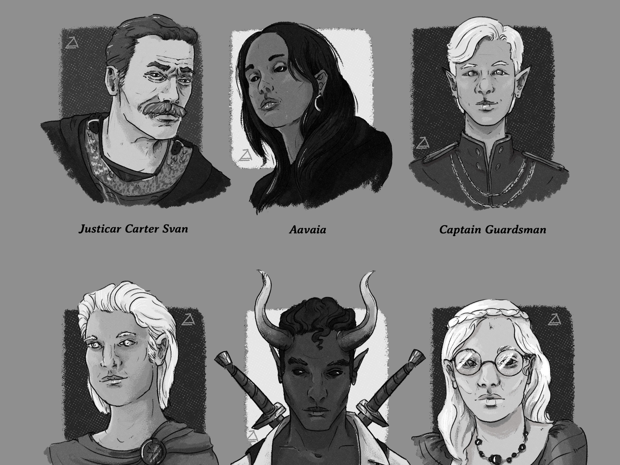 RPG Character Headshots - Headshot sheets, full portraits, the works. Click on through to check out prices & styles.