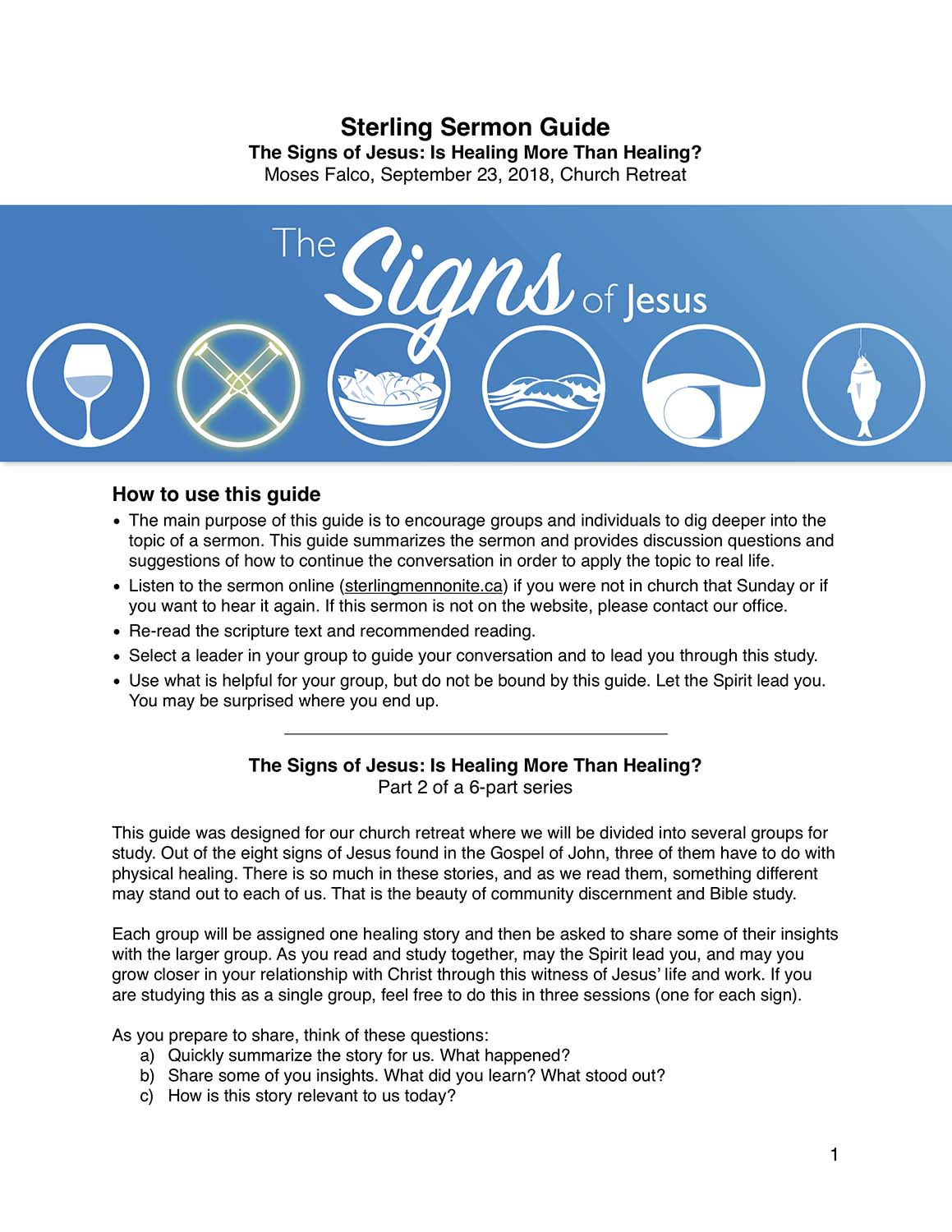 Signs 2: Is Healing More than Healing