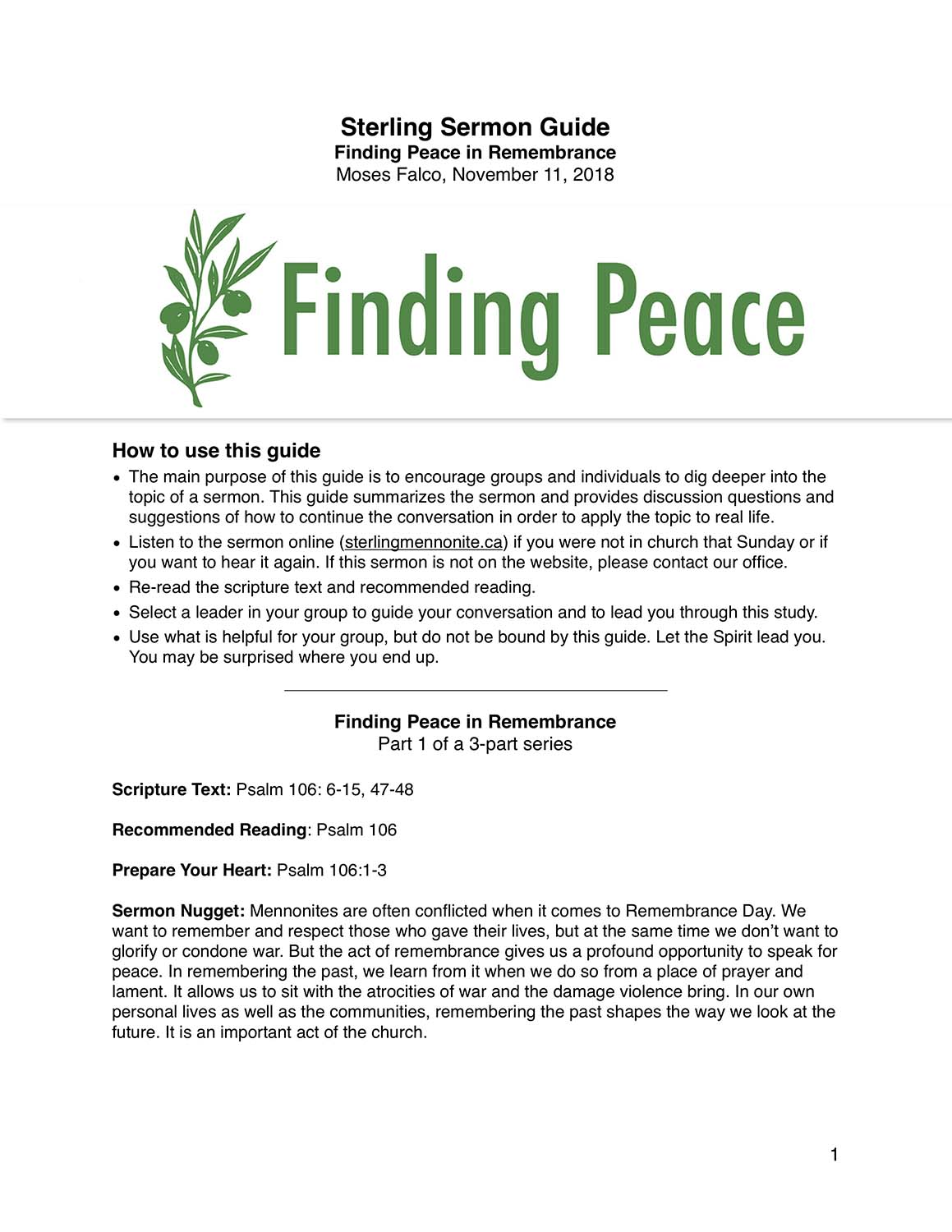 Finding Peace in Remembrance