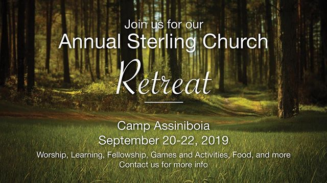 Hey Friends. Our church retreat is coming up in just over a week. Remember to register before Sunday. Contact us to register or to get a form. Looking forward to retreating together.