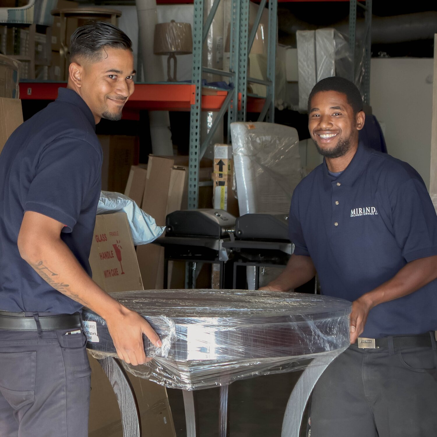 Our smiling, uniformed staff will make your delivery problems disappear.