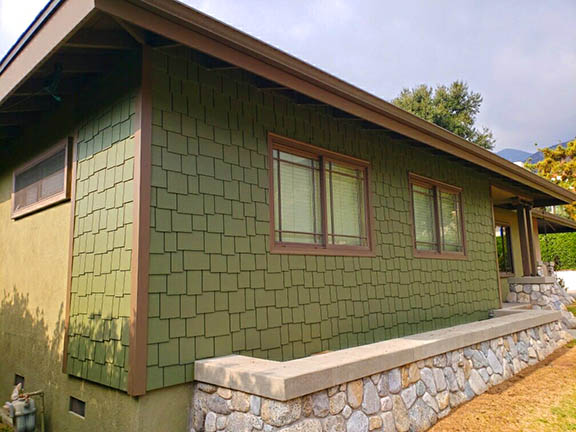 James Hardie Staggered Shingle  Sierra Madre, Ca