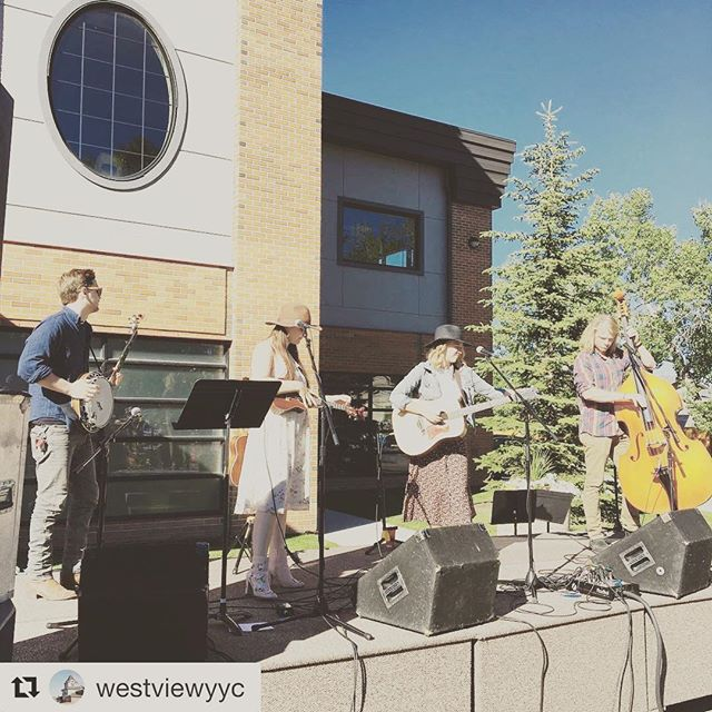 It's a beautiful day for some Stampede Breakfasting! We're at @westviewyyc this morning, then heading over to First Church of the Nazarene for today's double header. Yahoo!