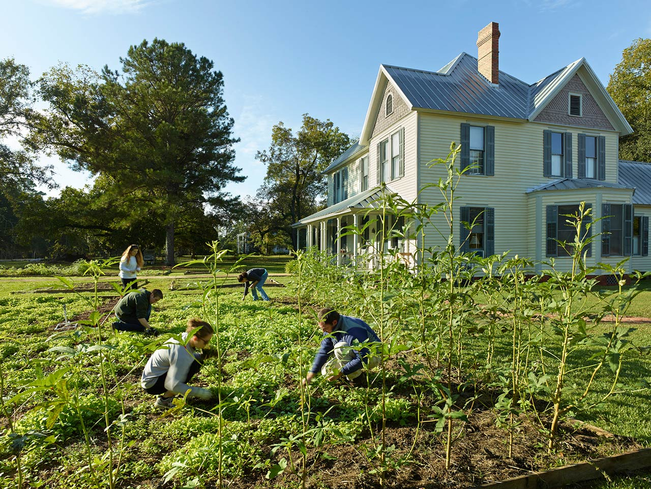 "Students to the ""Studio's"" farm, part of the larger learning environment of program"