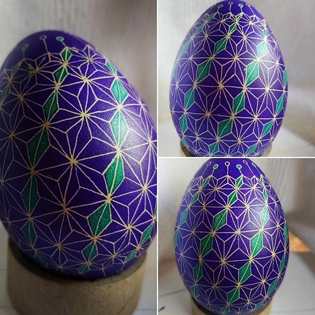 Today I timed it. Two hours and 15 minutes from blown egg shell to done. #pysanky