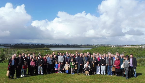 Church members, CORT Trustees and staff at the bus trip