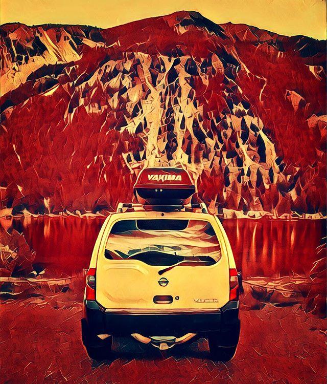 Adventure Awaits #explore #discover #adventure #travel #drive #roadtrip #travelmore #travelbug #myride #car #nissan #xterra #mountains #colorado #lake #outdoors #nature #wild #reflection #free #peace #quiet #happiness #water #road #wherewearegoingwedontneedroads #offroad #run #ajwilliamsphoto