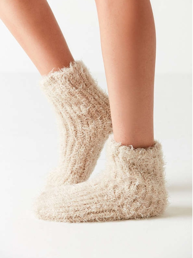 Fuzzy Socks - Who doesn't love a pair of fuzzy socks during the winter?