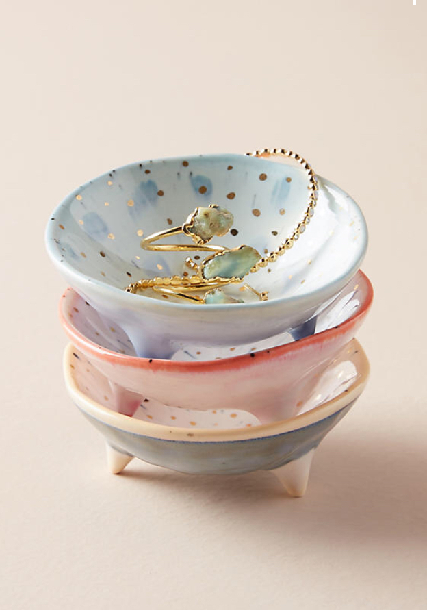 Trinket Dish - These jewelry dishes are so dainty and cute!