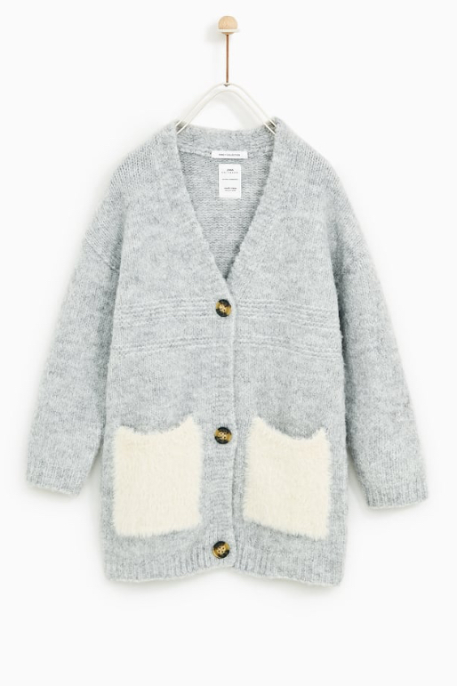 - This fuzzy cardigan is so cozy for the winter!