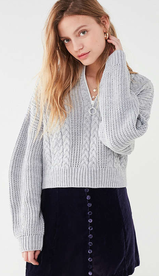 - This sweater is so cool and chic!