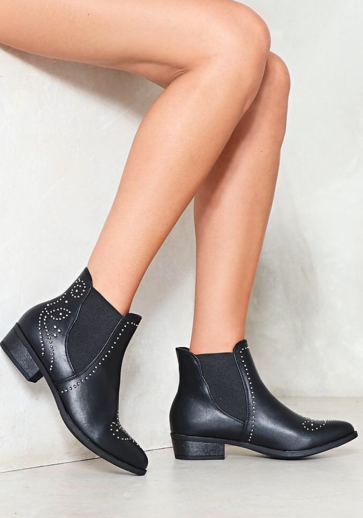 - I am obsessed with these studded boots!