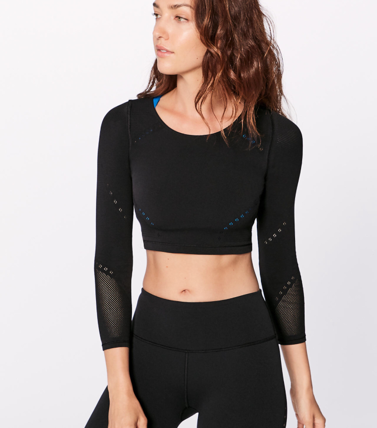 The Black Crop Top - I LOVE this black top! It is super comfortable and is perfect for dance class or a run to the gym.
