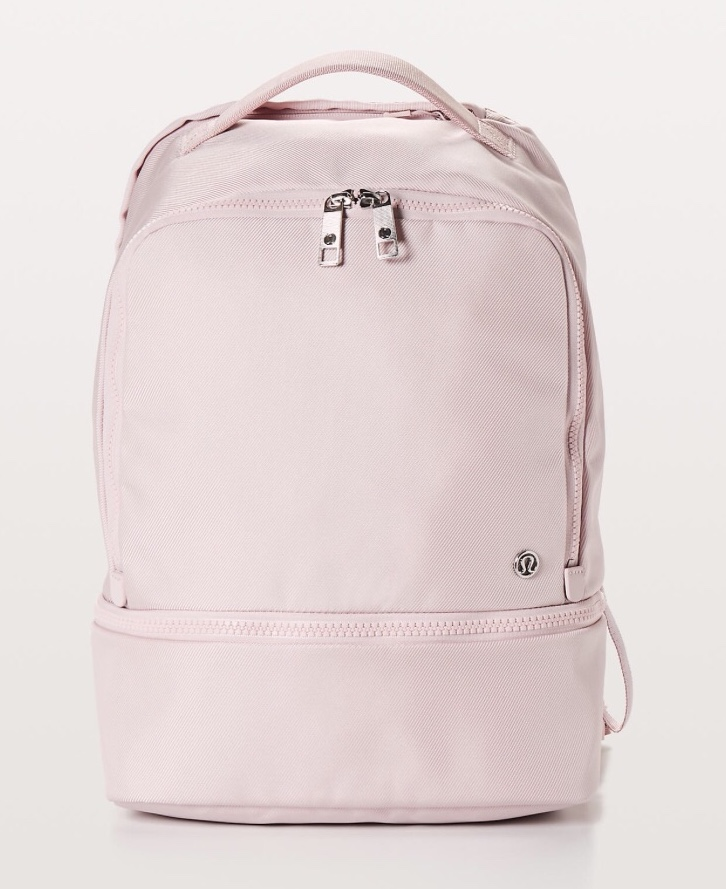 - This pink Lululemon backpack would make for a great dance bag!