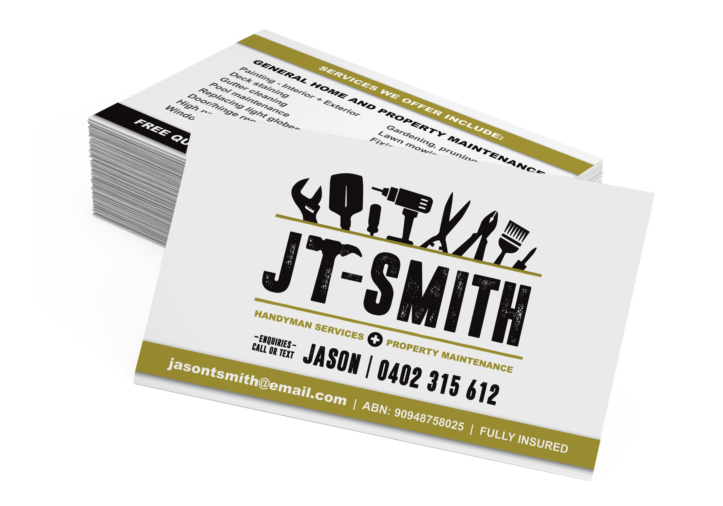 JT-SMITH HANDYMAN  : BRAND IDENTITY + GRAPHIC DESIGN