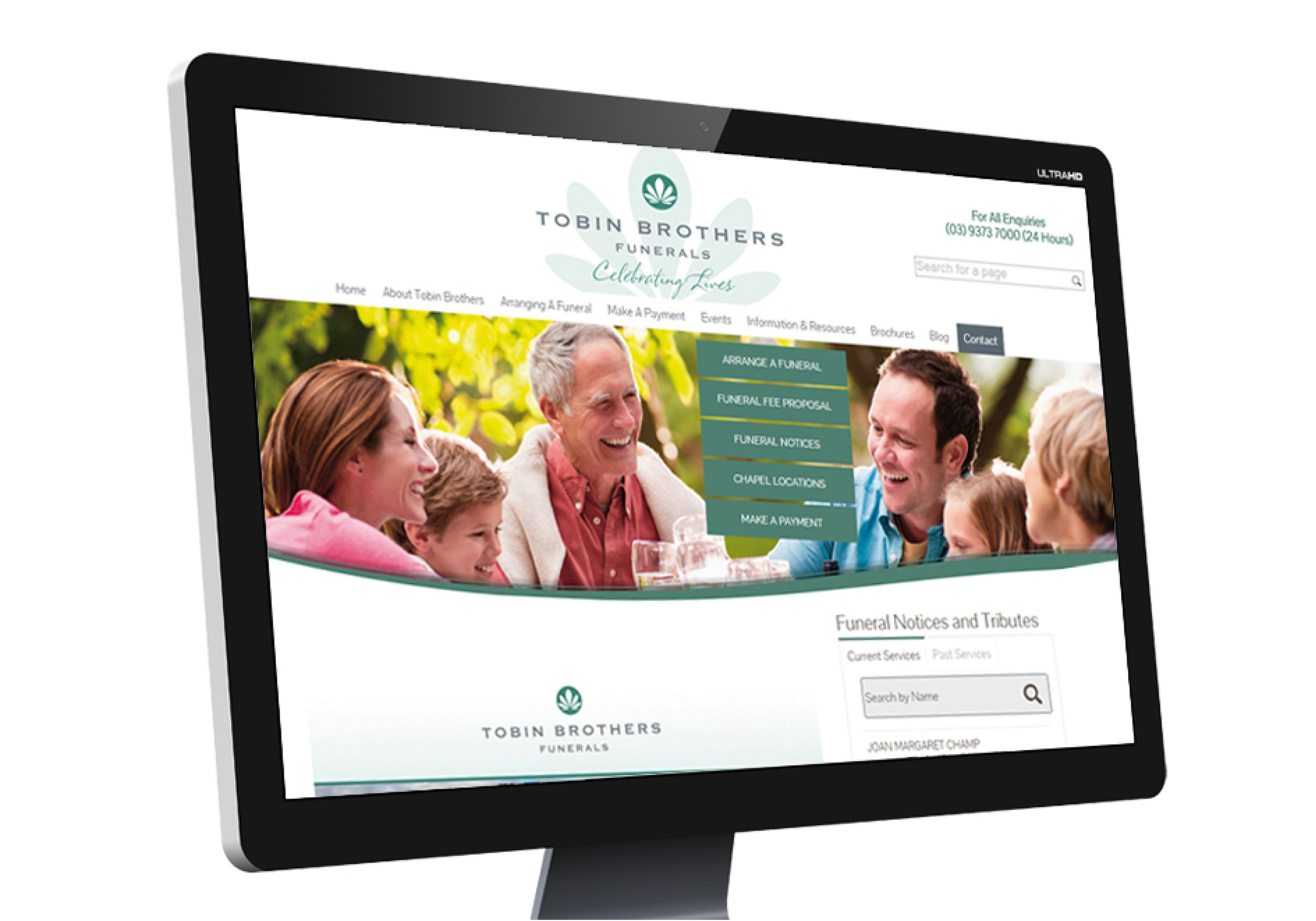TOBIN BROTHERS WEBSITE  : CREATIVE DIRECTION  view more...