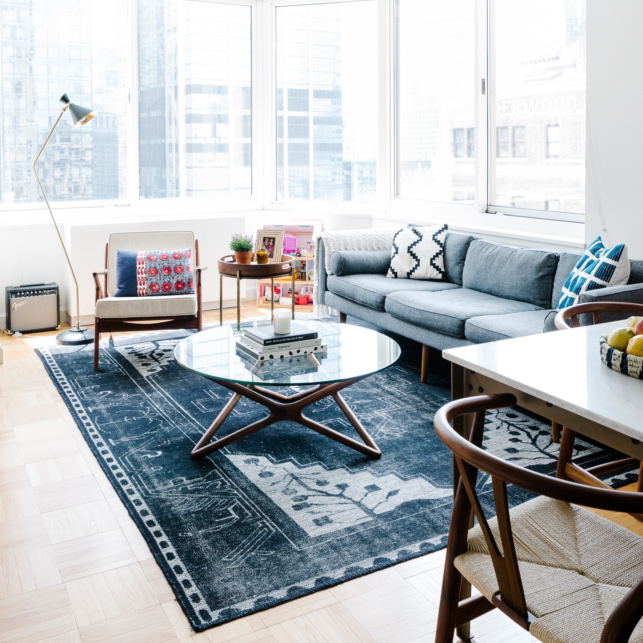 """NY POst - """"How these nyc apartments went from drab to fab"""" - By Jackie Cooperman, February 28th, 2018; Photo Credit: Havenly"""