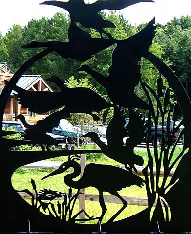 Assunpink Wildlife Preserve, Gateway Sculptures, detail