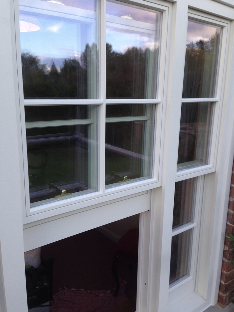 A Venetian sliding sash window