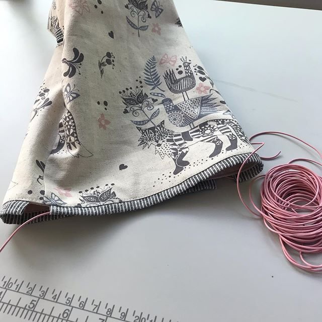 When you make a drawstring pouch and realize the outer fabric is upside down. Grrr.