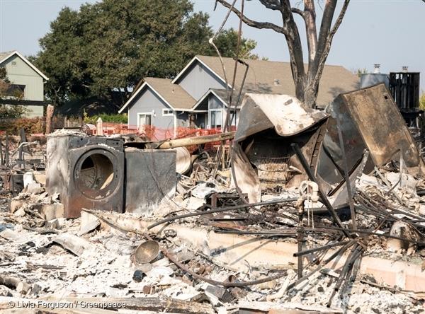 Santa Rosa, California, fire devastation - 13 Oct, 2017