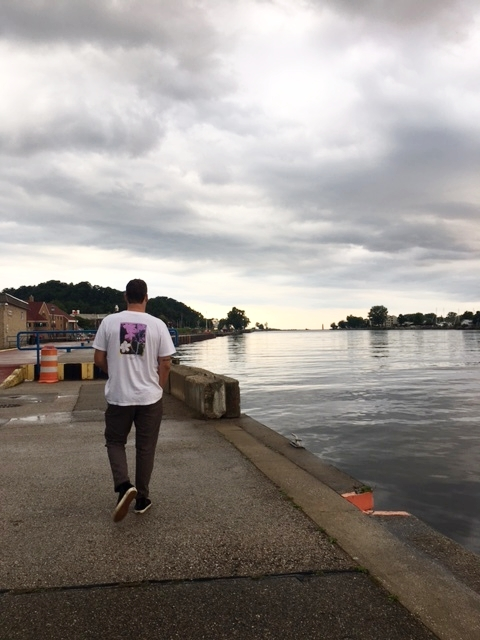 Strolling around Grand Haven.