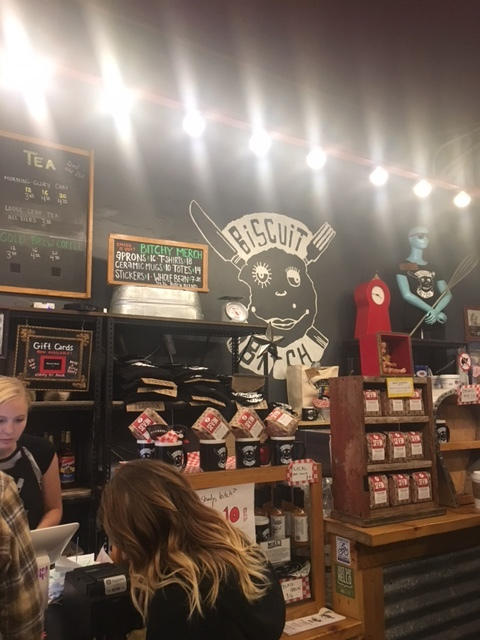 """Our original plan was to eat breakfast at """"Biscuit Bitch"""" which is supposed to have amazing biscuit sandwiches but the line was OUT THE DOOR and there was no where to sit and eat but definitely hit this spot when you're in Seattle! (It's right near Pike Place Market)"""