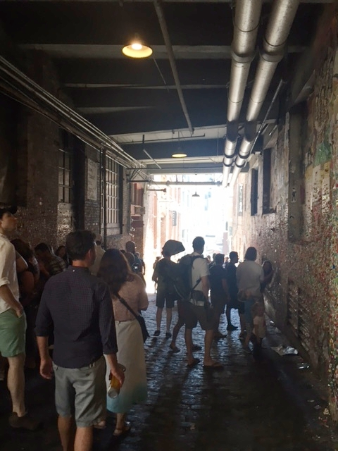 Found the Gum Wall! (So gross right?!) Did you know its one of the top 5 germiest places in the world?