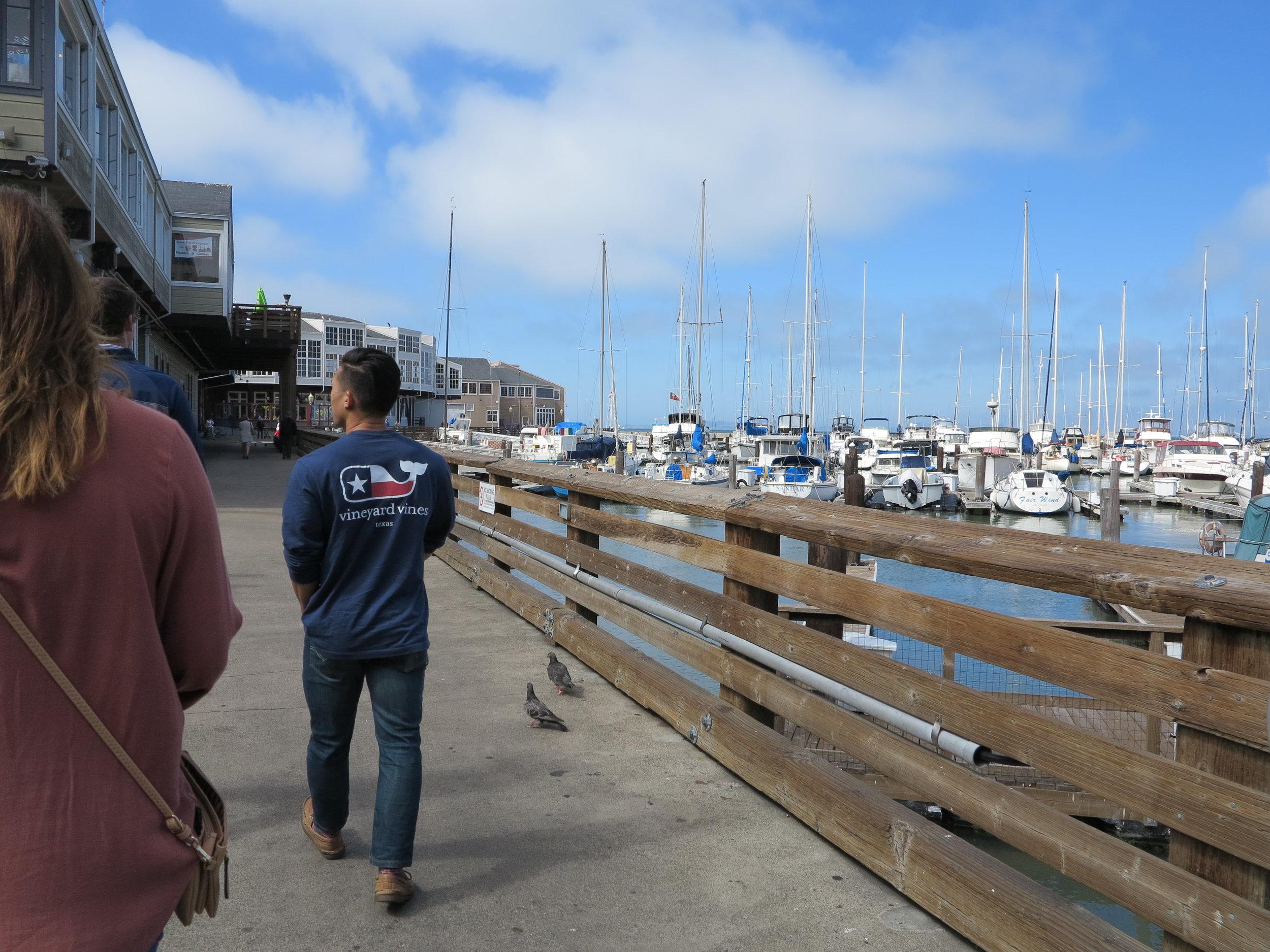 We walked around the Marina near Pier 39.