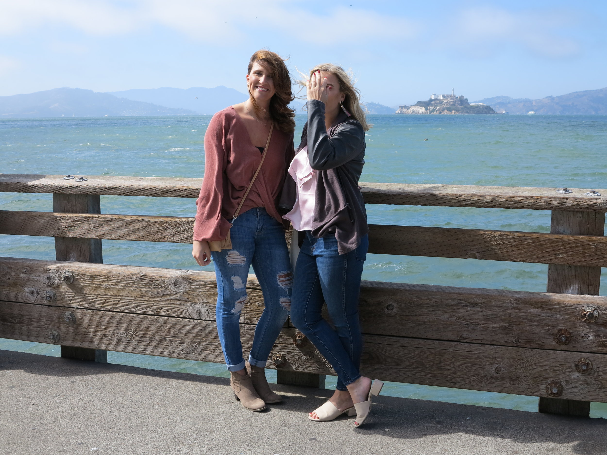 Kelly and I in front of Alcatraz.