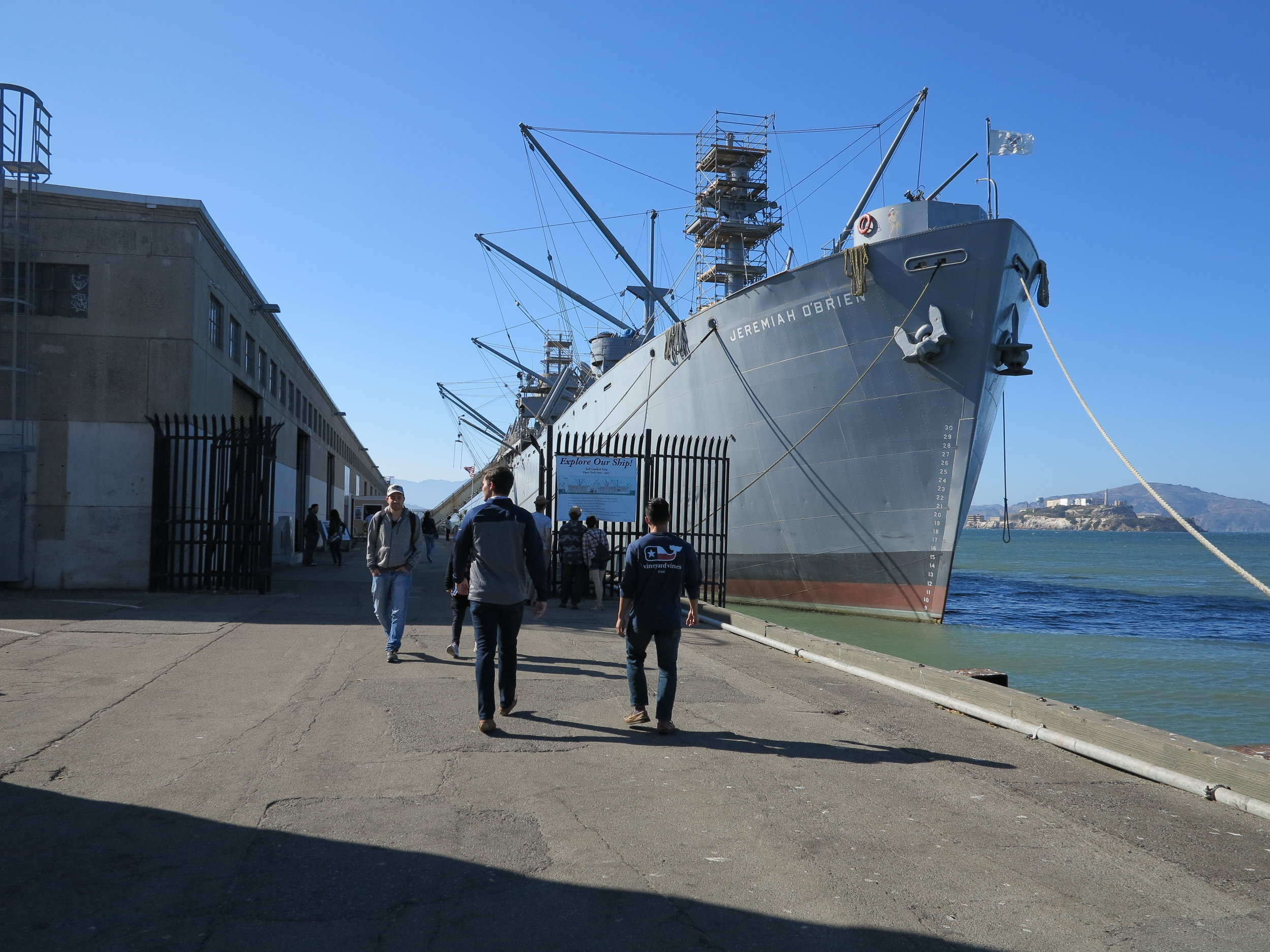 We walked towards Fisherman's Wharf and spotted these WWII ships and had to check them out. They were huge!