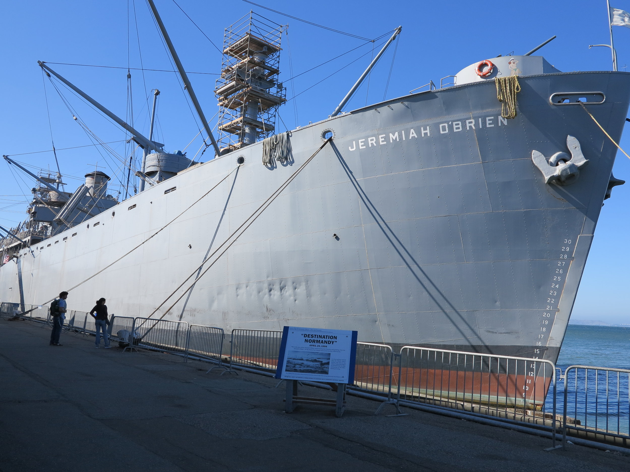SS Jeremiah O'Brien - Survivor ship from Normandy on D-Day.
