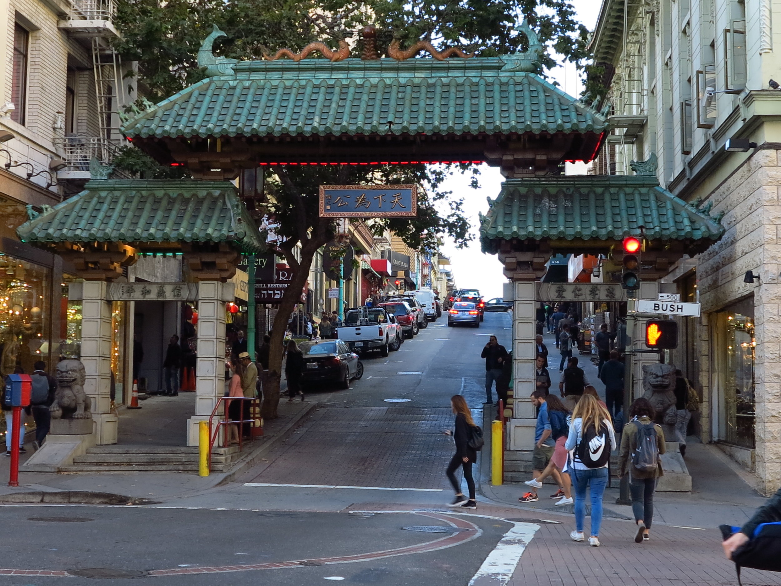 After a couple drinks we took an Uber to Chinatown.