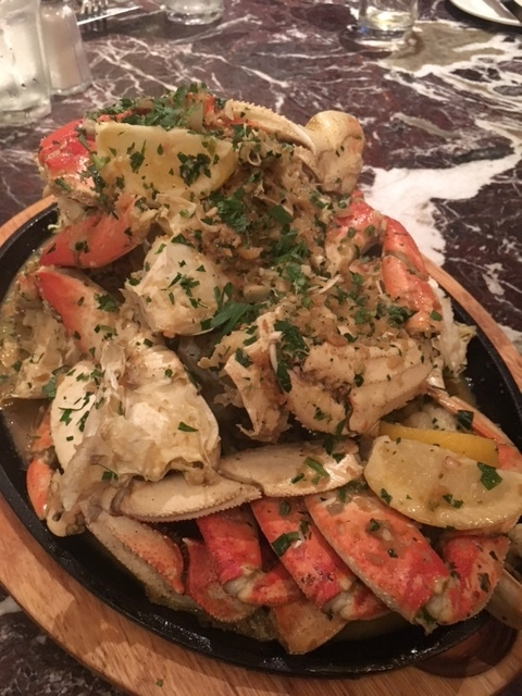 Some of us ordered the Crab for 4 and it was literally a huge pile of Dungeness crab...It was so good!