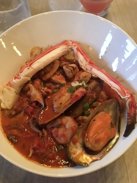 Reception dinner at Blue River Bistro , this Shellfish Cioppino was amazing!