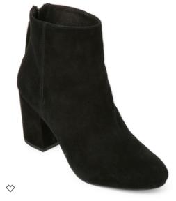 Steve Madden Black Cynthia Block Heel Ankle Booties - $56.60