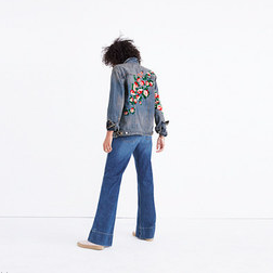 Madewell:Oversized Jean Jacket Embroidered Edition - $99.99